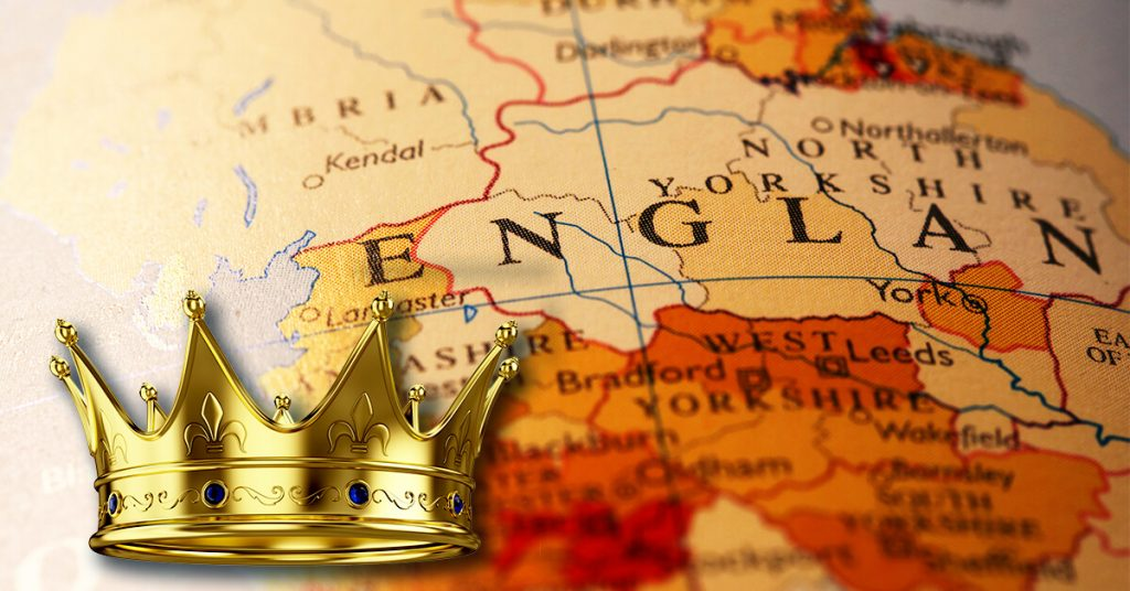 כתר על דגל אנגליה